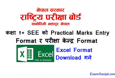 SEE Class 10 Exam Center & Practical Marks Entry Notice NEB
