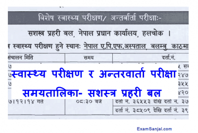 APF Sasastra Police Health Checkup & Interview Routine APF Jawan