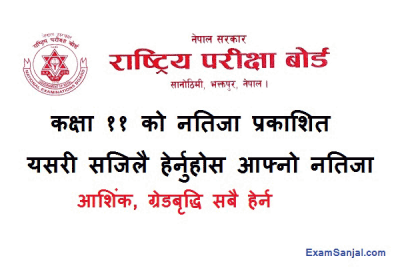 Class 11 Result published Class 11 Partial Grade Increment Result