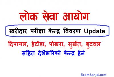 Kharidar Exam Center Dipayal Surkhet Hetauda Pokhara Kathmandu Butwal