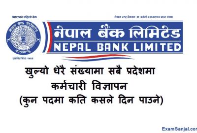 Nepal Bank Limited Job Vacancy Notice Published NBL Vacancy 2077