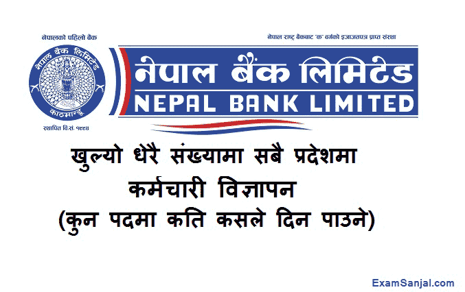 Nepal Bank Limited Job Vacancy Notice Published NBL Vacancy 2077