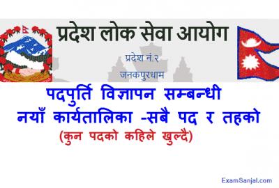 Pradesh Lok Sewa Aayog Govt Job Vacancy Routine Schedule