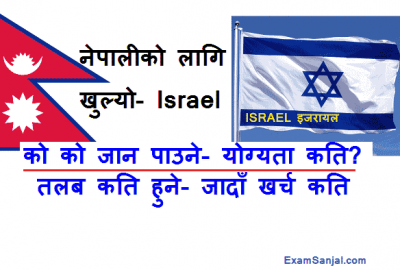 Israel Job Opportunity Open for Nepal Israel Nepal Working Contract