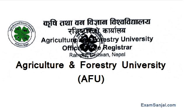 Agriculture & Forestry University AFU Vacancy Notice Krishi Ban University