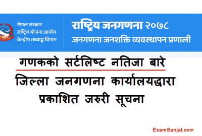 Gadak Shortlist Result Notice by Rastriya Janagadana 2078 Office