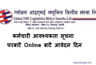 Global IME Laghubitta Microfinance Job Vacancy Notice