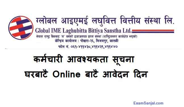 Global IME Laghubitta Microfinance Job Vacancy Notice