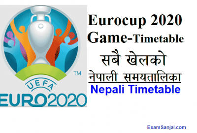 Eurocup 2020 game schedule Timetable in Nepali Time