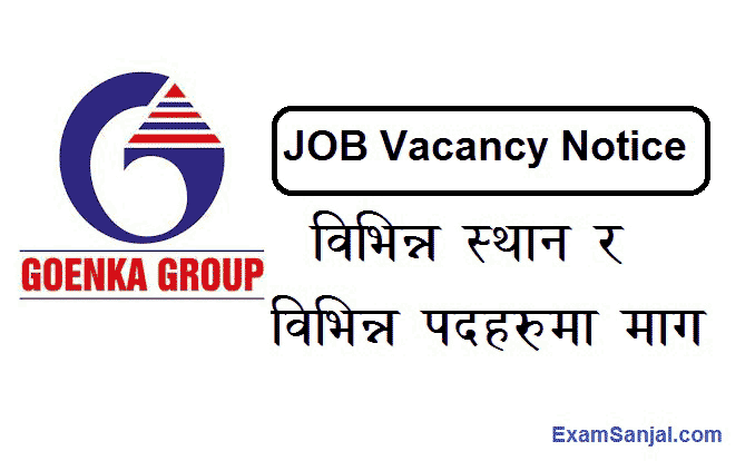 Goenka Group Job Vacancy Manager HR Sales Purchase Officer