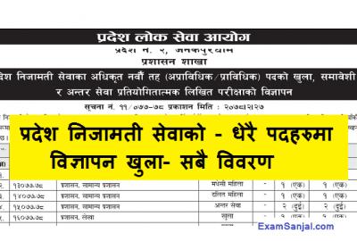 Pradesh Lok Sewa Aayog 2 Government Sarkari Job Vacancy Notice