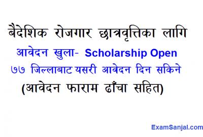 Baideshik Rojgar Chhatrabritti Foreign Employment Scholarship Application Open