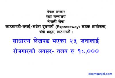 Kathmandu Terai Fast Track DrutMarg Vacancy Notice Kathmandu Terai ExpressWay