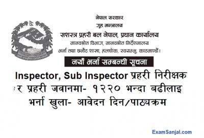 APF Armed Police Force Vacancy Notices Sasastra Prahari Nirikshak Jawan