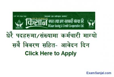 Kisan Saving & Credit Bachat Rin Sanstha Job Vacancy Notice