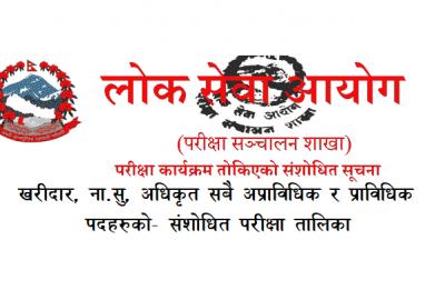 Adhikrit, Nayab Subba Na Su & Kharidar Exam Routine Update Lok Sewa