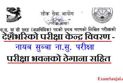 Na Su Exam Center Details Katmandu Butwal Birgunj Surkhet & all