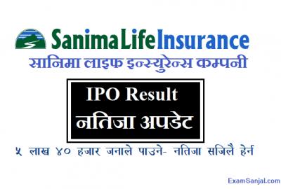 Sanima Life Insurance IPO Result Check Prabhu Capital IPO Result