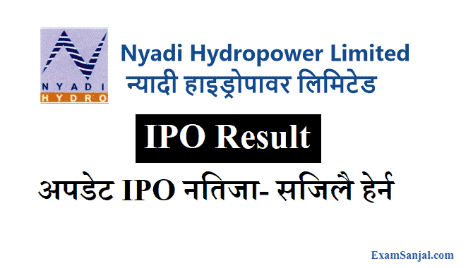 Nyadi Hydropower IPO Result How To Check Nyadi Hydro IPO Result